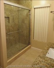 The Master Bathroom has a Newly Installed Walk-in Shower