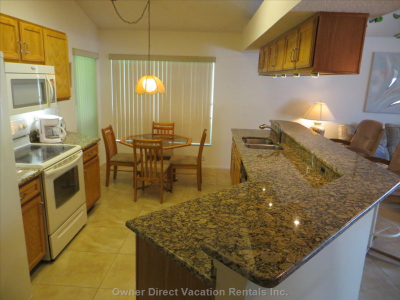 Our Kitchen Features Granite Countertops