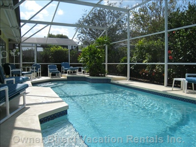 Our Oversized Pool is Heated, Screened and Fenced for Total Privacy