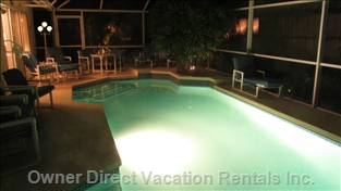 Enjoy the Pool at Night! - unlike a Hotel, our Pool is Never Closed!
