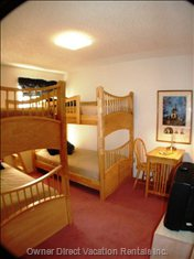 The Kids Will Love their Room - Two Sets of Strong Maple Bunk Beds, Cable TV, Movies, Games!