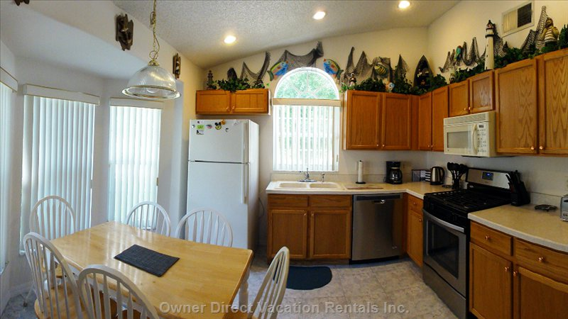 Fully Equipped Kitchen - with Everything you Should Need. Breakfast Nook with Seating for 6