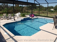 Large Fully Covered Pool and Deck with Plenty of Pool Furniture - Not Overlooked at Rear