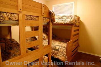 Third Bedroom with Bunks for Five People