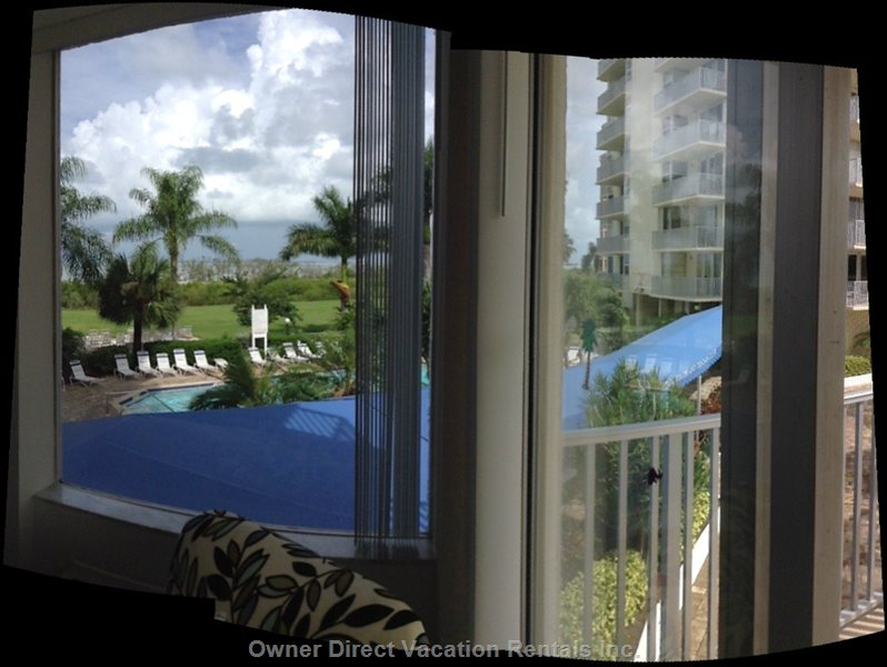 View to the Pool and Beach from Great Room