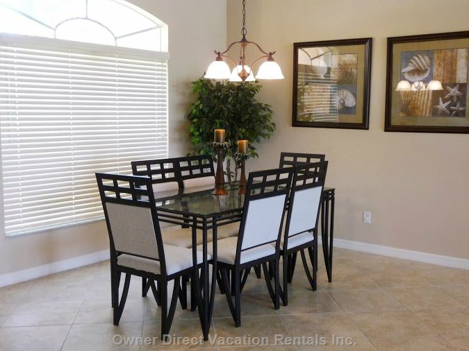 Formal Dining, for Special Meals & Occasions.