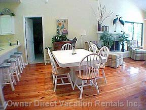 Dining Area with 6 Chairs