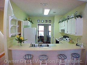 Gourmet Fully Equipped Kitchen