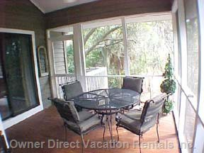 Screened Porch off Great Room and Master Bedroom