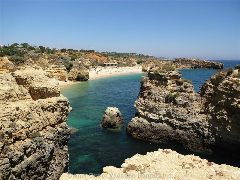 Sao Rafael Beach, one of Portugal's Famous Beaches Can be Part of your Morning Stroll along the Clifffs
