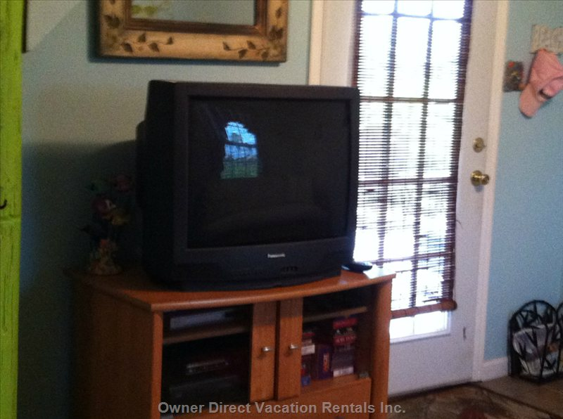 Downstairs Tv with Unverse and Vcr
