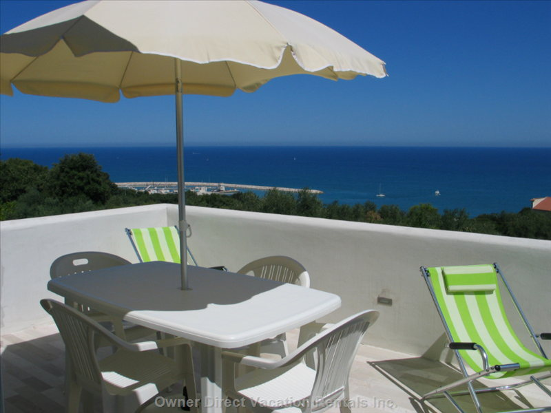 Terrific Private 15x29 Ft Terrace Facing the Harbor and Tremiti Islands: the Best Place to Have Dinner!