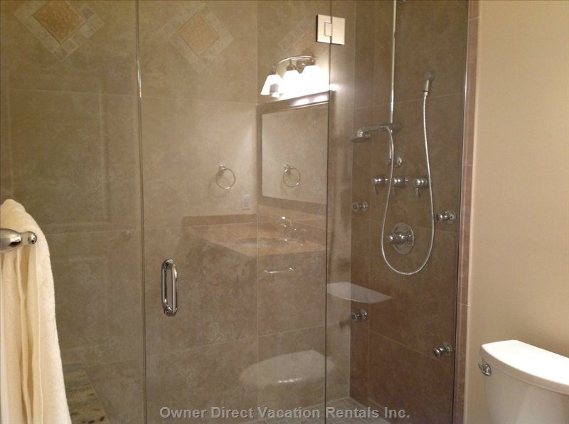 The Master Bath with Six Direction Shower Head