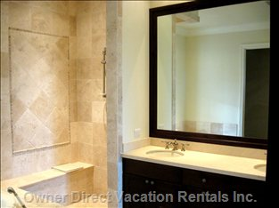 Bathroom - En-suite Private Marble Bath with 2 Sinks, Large Shower and Large Soaking Tub