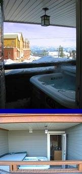 Private Hot Tub Located on the Deck.
