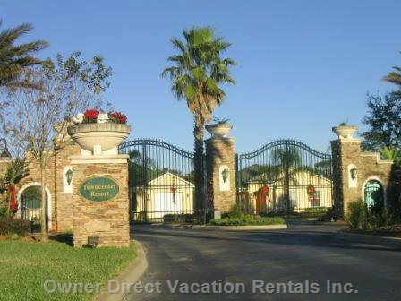 Gated Entry to our Potected Conservation Community of Caribbean Style Detached Detached Pool Homes.