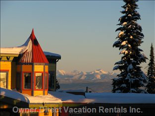 Silver Star Village with Monashee Mountains in Background