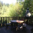 Kitchen Deck Overlooking Forested Ravine and Creek