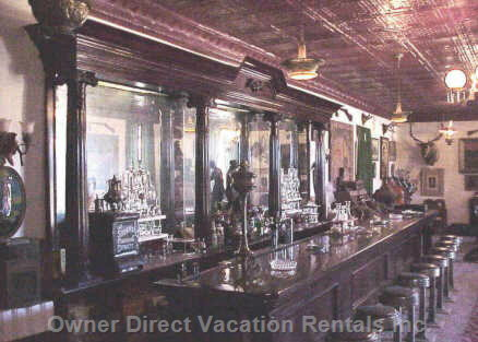 Mahogany Bar in the Old West Saloon