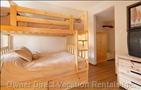 Second Bedroom - Double over Double Comfortable Bunk Beds with Full Bathroom Attached