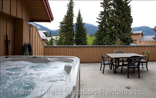 Huge Deck with Private Hot Tub - Biggest Deck Available in Whistler Village and Brand New Full Size Hot Tub