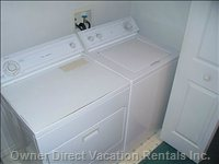 Laundry Facilities - Included is a Full Size Washer and Dryer!