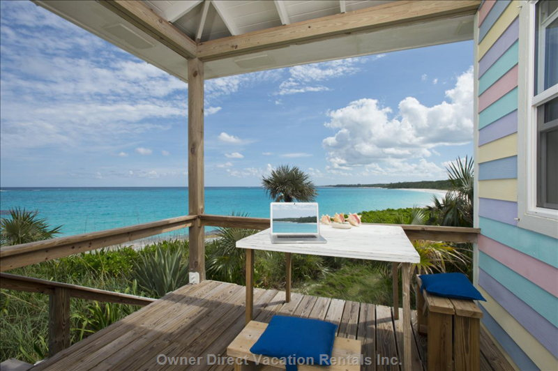 Perched on a Sand Dune on the Atlantic Ocean Beachfront, your Dining/Napping Private Deck Awaits you!