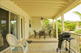 Beautiful Covered Porch, Great for Having Dinner Outside. Bbq, Dining Table and Patio Furniture to Lounge In.
