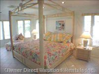Master Bedroom Suite - King Bed, Ocean View and Breezes.
