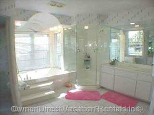 Master Bath - Jacuzzi Bath, 3 Head Shower.