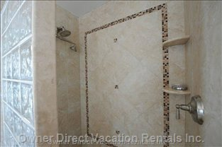 New Walk in Tile Showers - Guest King and Queen.
