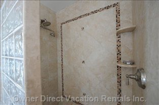 New Walk in Tile Showers - Guest King and Queen