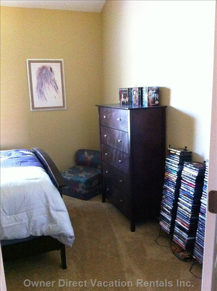 Second Bedroom. - Massive Movie Collection!