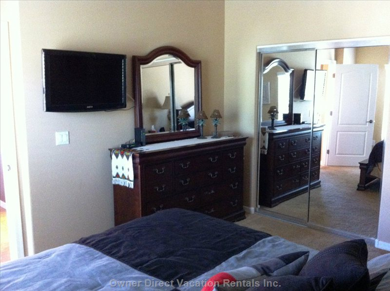 Master Bedroom and Walk in Closet - Large Walk in Closet