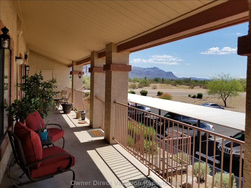 Sit on your Deck and Enjoy your Morning Coffee with the Majestic Views of the Superstition Mountains
