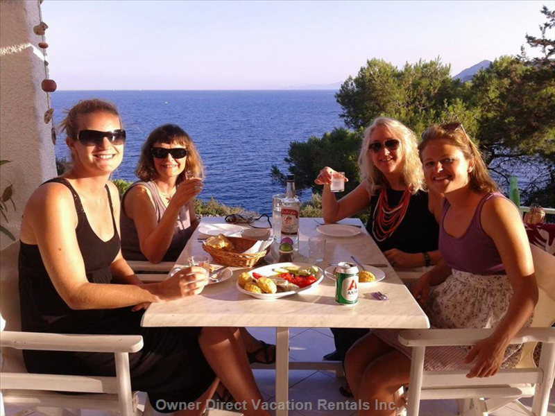 Dining at Kavos Bay