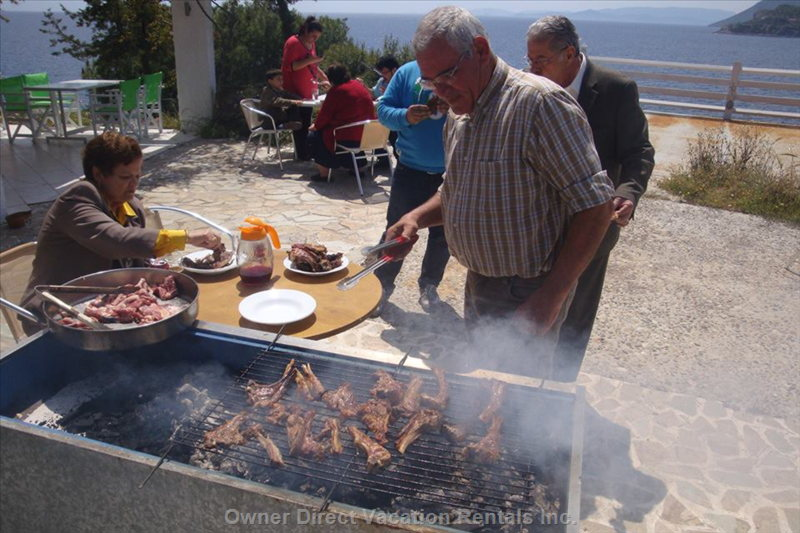 Barbecue Grill at Kavos Bay