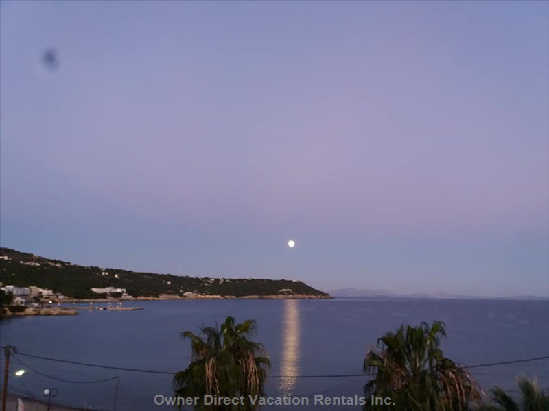 Moon over Kavos Bay