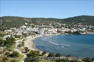 Main Sandy & Organized Beach in Agia Marina
