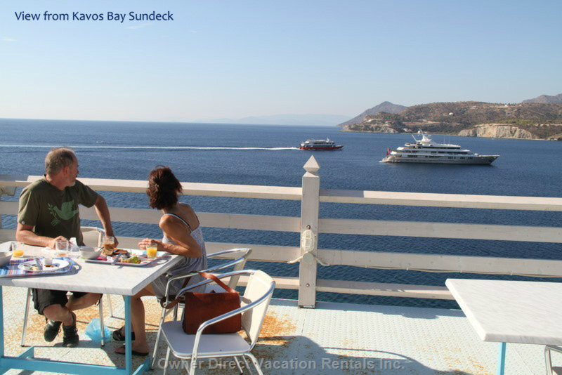 Watch the Boats Sail by from our Open Sundeck.