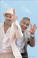 Brad Pitt and George Clooney on Lake Como