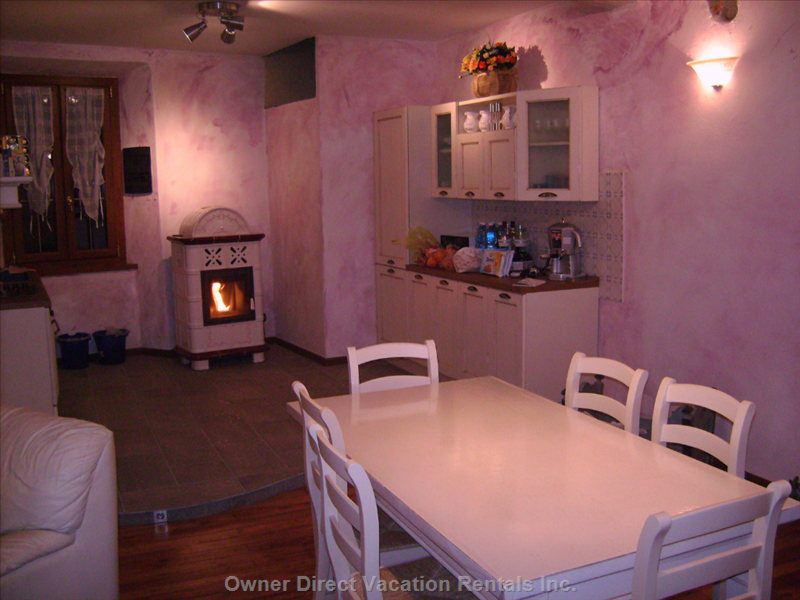 Full Kitchen other Side with Winter Stove.