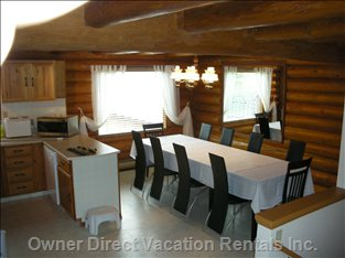 Dining Area - kitchen-Dining-Area for 10 Adult. If you Need more Space, we Offer Table and Chairs.