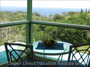 Covered Lanai with Oceanview