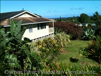 Ocean View Home on the Dry Side of Maui's North Shore. Private but Conveniently Located and Central to all of Maui Adventures !