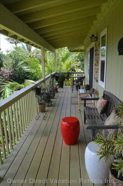 Furnished Lanai with Gas Bbq .... And Ocean View