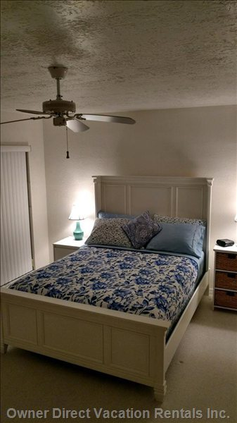 Master Bedroom has a Fan and House has a New Central Air Conditioner as Well.