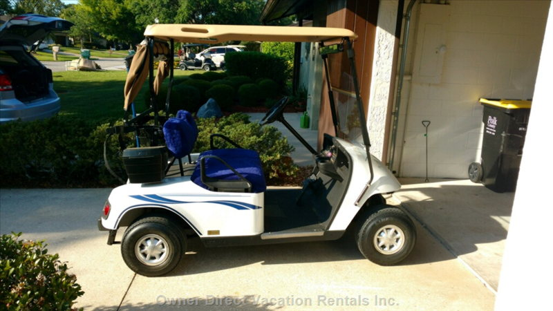Adult Guests Have Use of the Electric Golf Cart.   There are 2 Golf Courses in the Complex.