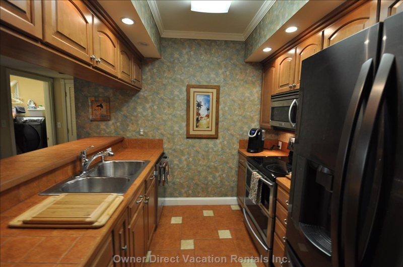 Kitchen with all Amenities and Stainless Steel  Appliances