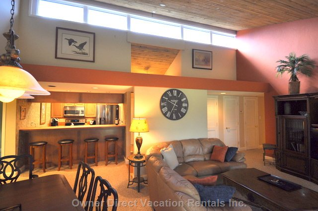 Open Concept and  Vaulted Ceilings